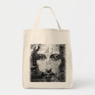 Jesus Christ Collage halftone black + your ideas Tote Bag