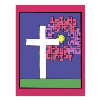 Jesus Christ Cross Postcard