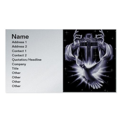 Jesus Christ Crown of Thorns and Dove Business Card