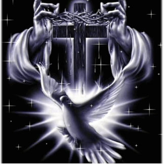 Jesus Christ Crown of Thorns and Dove Cutout
