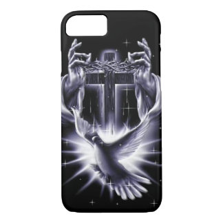 Jesus Christ Crown of Thorns and Dove iPhone 8/7 Case