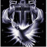 Jesus Christ Crown of Thorns and Dove Photo Cut Out