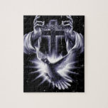 Jesus Christ Crown of Thorns and Dove Jigsaw Puzzles