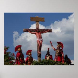 Jesus Christ Crucifixon Cross Golgotha Frame Print
