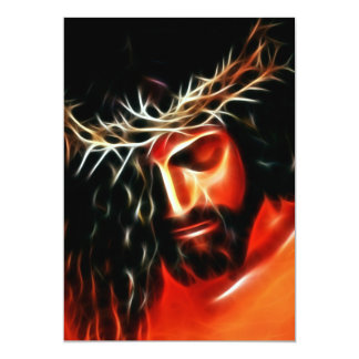 Jesus Christ Crying For You Card