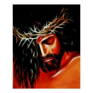Jesus Christ Crying For You Poster