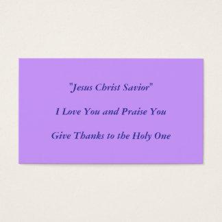 Jesus Christ  Design by Carole Tomlinson Business Card