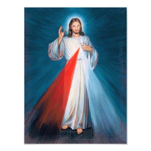 Jesus Christ Divine Mercy Sacred Heart of Jesus Photo Print