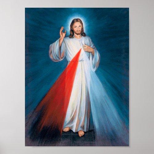 Jesus Christ Divine Mercy Sacred Heart of Jesus Poster