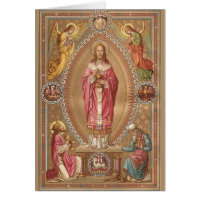 Jesus Christ Eucharist Catholic Mass Offering Card