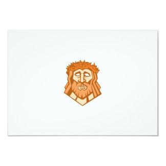 Jesus Christ Face Crown Thorns Retro Card