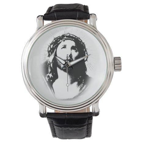 Jesus Christ Face Stencil Watch