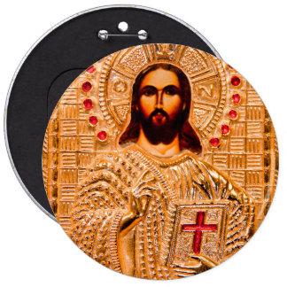 Jesus christ golden icon button
