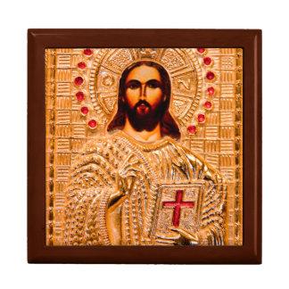 Jesus christ golden icon keepsake boxes