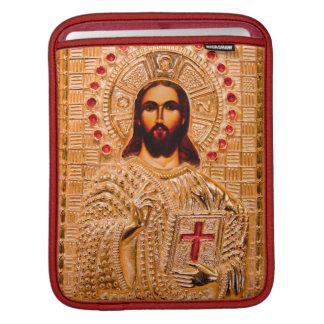 Jesus christ golden icon iPad sleeve