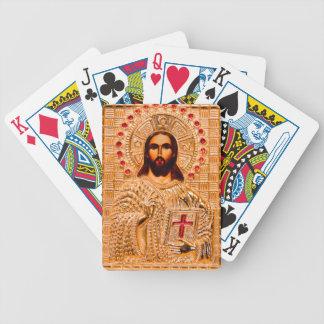 Jesus christ golden icon playing cards