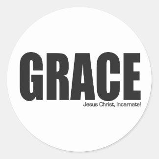 Jesus Christ Grace Incarnate Round Stickers