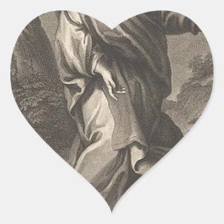 Jesus Christ Heart Sticker