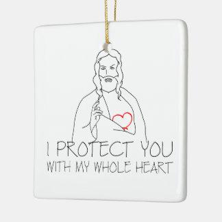 Jesus Christ - I Protect You Ceramic Ornament