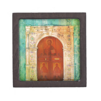 Jesus Christ Icon Door Greek Orthodox Keepsake Box