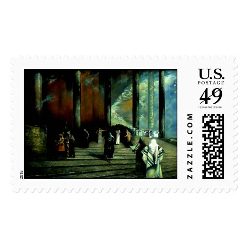 Jesus Christ in the Temple Postage Stamp