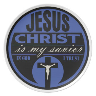 Jesus Christ is My Savior(Blue) Dinner Plate