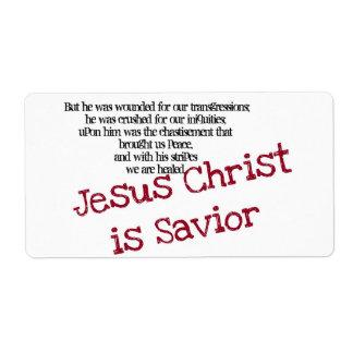 Jesus Christ is Savior Shipping Label