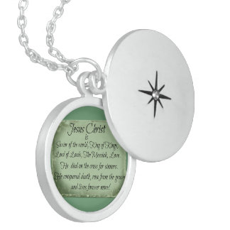 Jesus Christ Is  - Sterling Silver Locket