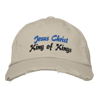 Jesus Christ King of Kings Ladies Embroidered Cap Embroidered Baseball Cap