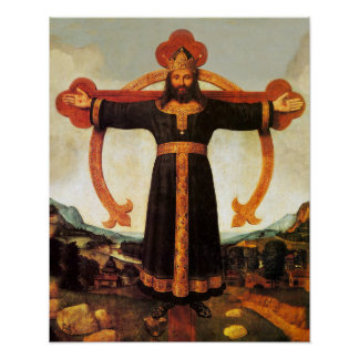Jesus Christ King Volto Santo Print Picture Poster