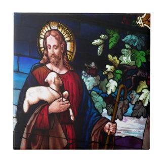 Jesus Christ Lamb Design Glass Art Destiny Ceramic Tile