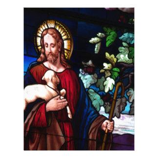 Jesus Christ Lamb Design Glass Art Destiny Letterhead