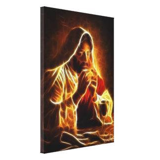 Jesus Christ Last Supper Canvas Print