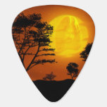 Jesus Christ Looking on Earth from Evening Moon Guitar Pick