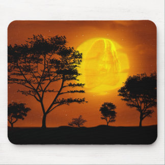 Jesus Christ Looking on Earth from Evening Moon Mouse Pad