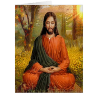 Jesus Christ Meditation Card
