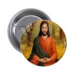 Jesus Christ Meditation Pinback Button