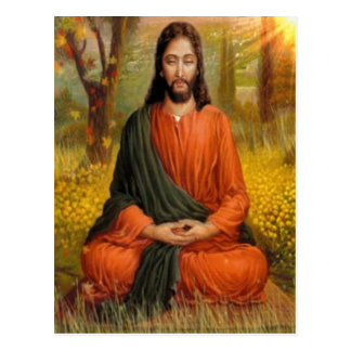 Jesus Christ Meditation Postcard