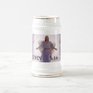 JESUS CHRIST 18 OZ BEER STEIN