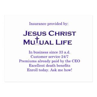 Jesus Christ Mutual Life Postcard