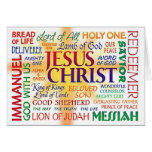 JESUS CHRIST, NAME ABOVE ALL NAMES GREETING CARDS