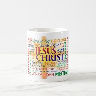 JESUS CHRIST, NAME ABOVE ALL NAMES CLASSIC WHITE COFFEE MUG