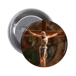 Jesus Christ on the Cross Button