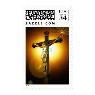 Jesus Christ on the Cross Holy God Stamp