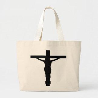 JESUS CHRIST ON THE CROSS LARGE TOTE BAG