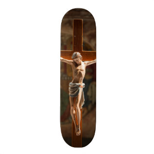 Jesus Christ On The Cross Skateboard at Zazzle
