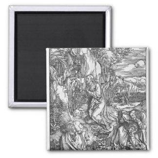 Jesus Christ on the Mount of Olives 2 Inch Square Magnet