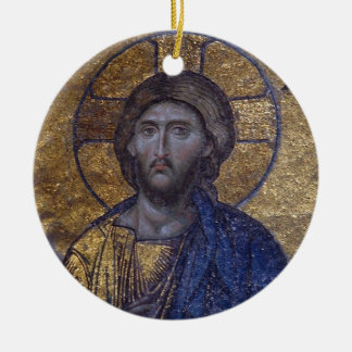 Jesus Christ Double-Sided Ceramic Round Christmas Ornament
