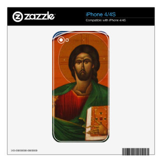 Jesus Christ Orthodox Christian Icon Decal For The iPhone 4S
