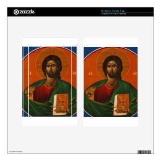 Jesus Christ Orthodox Christian Icon Skin For Kindle Fire